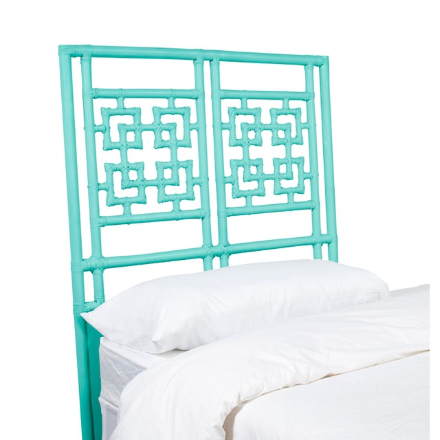 David Francis Palm Springs Headboard Twin - Turquoise For Sale - Image 4 of 5