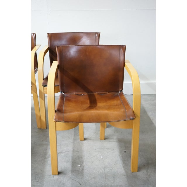 Brown Mid-Century Arm Chairs, Sold as a Set For Sale - Image 8 of 8