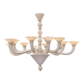 Murano Glass Ivory Chandelier
