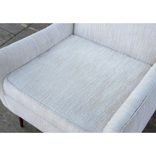 1950s Mid Century Modern Upholstered Lounge Chair For Sale - Image 10 of 11