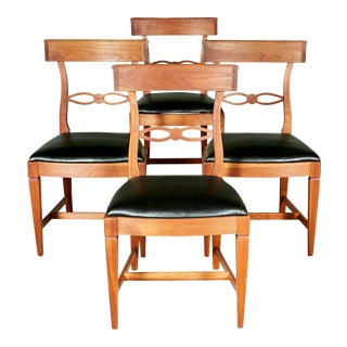 1950s Kindel Cherrywood Dining Room Chairs, Set of 4 For Sale