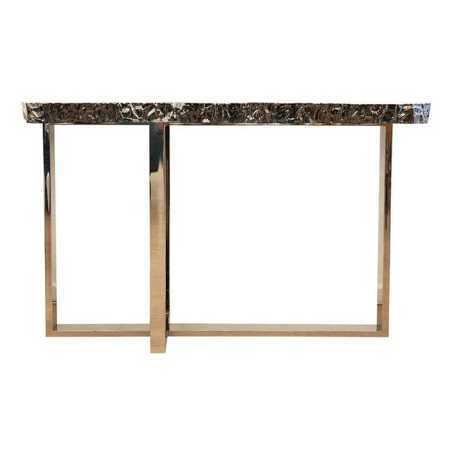 Dark Nickel Console by Ponybox for FormA For Sale In New York - Image 6 of 7