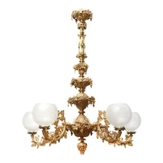 Henry Hooper Gilt Bronze Rococo Revival Chandelier For Sale