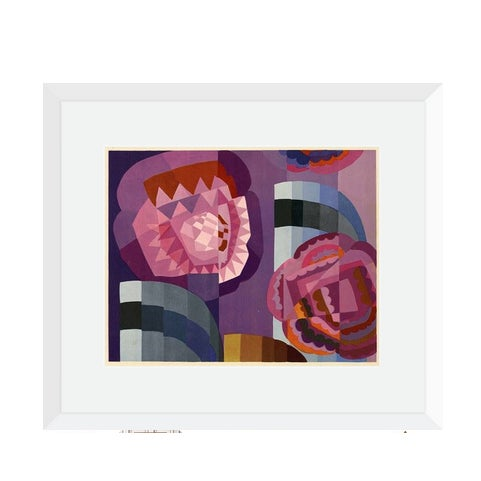 Geometric Roses by Edouard Benedictus Print on Paper For Sale - Image 4 of 4