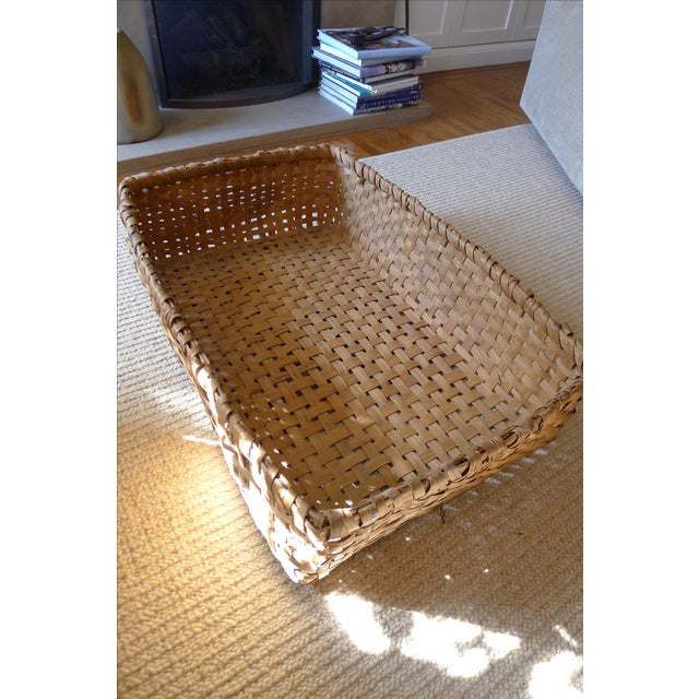 Early 20th Century Antique Primitive Gathering Basket For Sale - Image 5 of 5