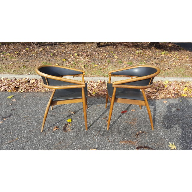 James Mont Vintage Mid-Century Lounge Chairs - A Pair For Sale In Baltimore - Image 6 of 7