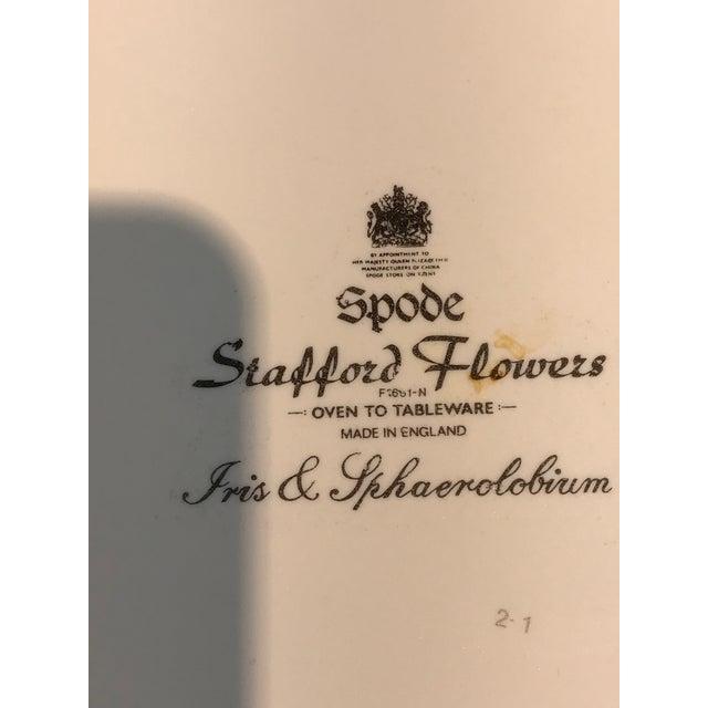 1980s Vintage Spode Stafford Porcelain Iris Tart Pan Plate For Sale - Image 9 of 10