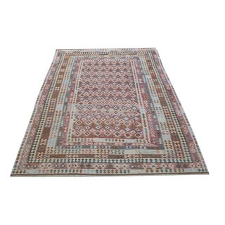 Late 19th Century Antique Vegetable Dyed Handwoven Kilim Wool Rug - 9′8″ × 16′7″ For Sale