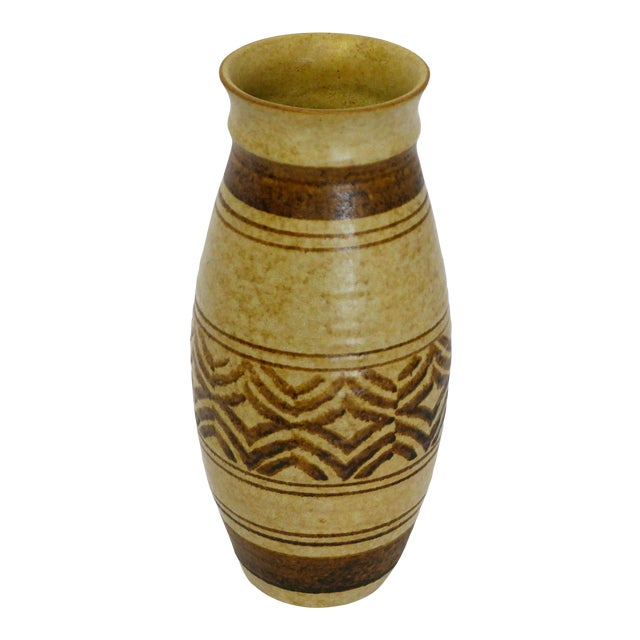 Boho Craft Pottery Vase For Sale
