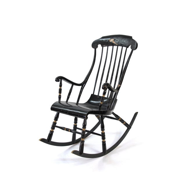 19th Century Vintage Swedish Gungstol Rocking Chair For Sale - Image 11 of 12