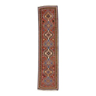 Vintage Yalameh Persian Carpet Runner with Modern Tribal Style For Sale