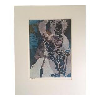 """Vintage Sister Corita Pop Modernist """"Madonna"""" Print For Sale"""