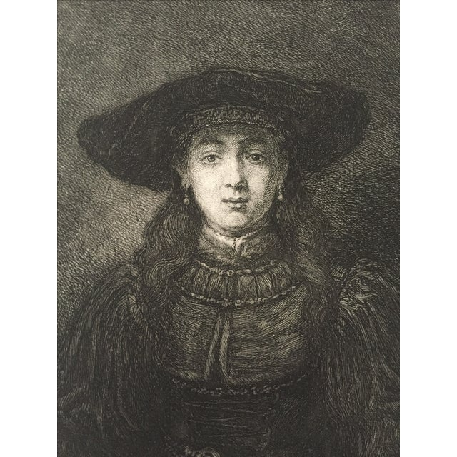 Portrait of a Woman Master Etching 19th Century - Image 3 of 4