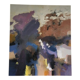 Large Scale Signed Abstract Painting For Sale