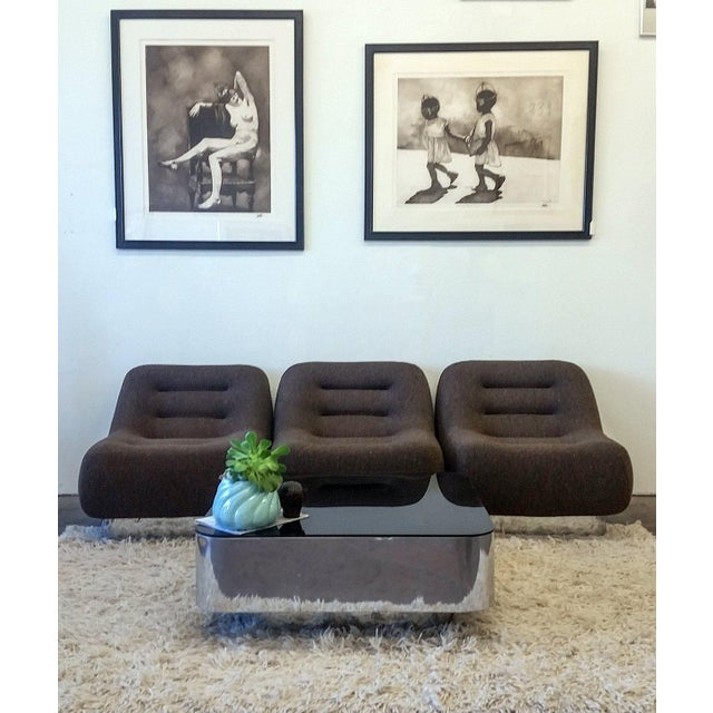 Mid-Century Modern 1970s M. F. Harty for Stow Davis Tomorrow Sofa Chairs and Table Suite - Set of 4 For Sale - Image 3 of 11