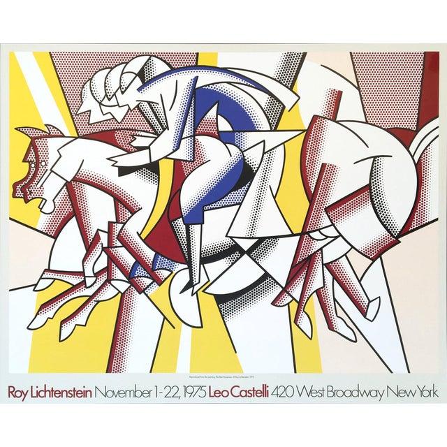 Roy Lichtenstein 'Red Horseman' 1975 Original Pop Art Poster For Sale