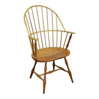 Thomas B Martin Custom Crafted Cherry Windsor Arm Chair For Sale