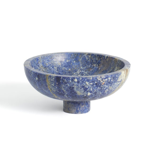Not Yet Made - Made To Order Fruit Bowl in Blue Marble by Karen Chekerdjian, Made in Italy For Sale - Image 5 of 8