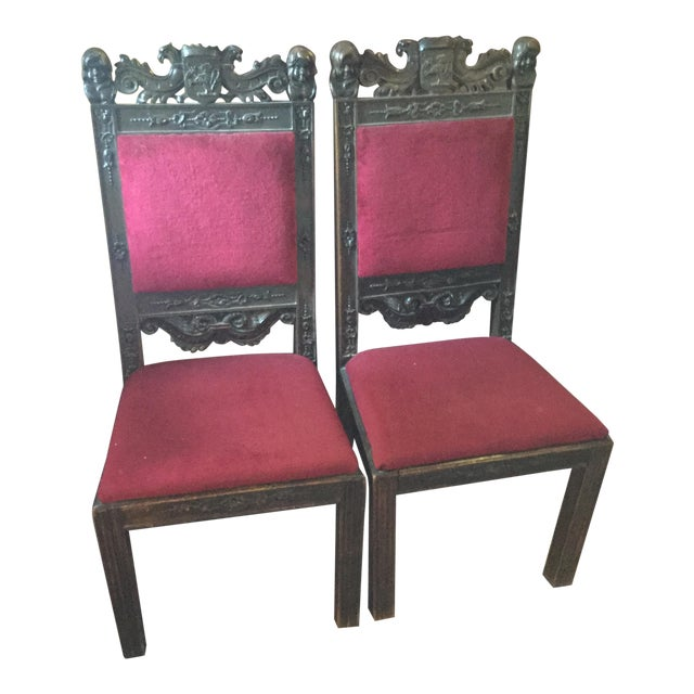 Scottish Farthingale Chairs- 2 For Sale
