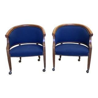 Comdisco Barrel Chairs - a Pair For Sale