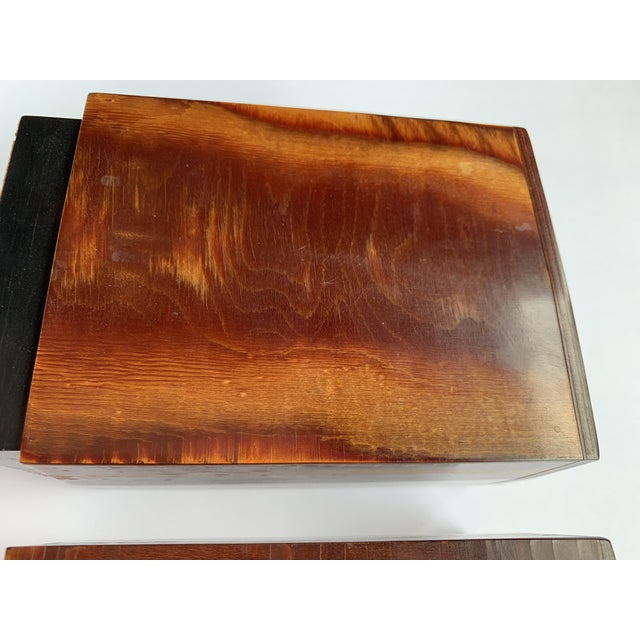 Traditional Burl Wood Bookends - a Pair For Sale - Image 3 of 8