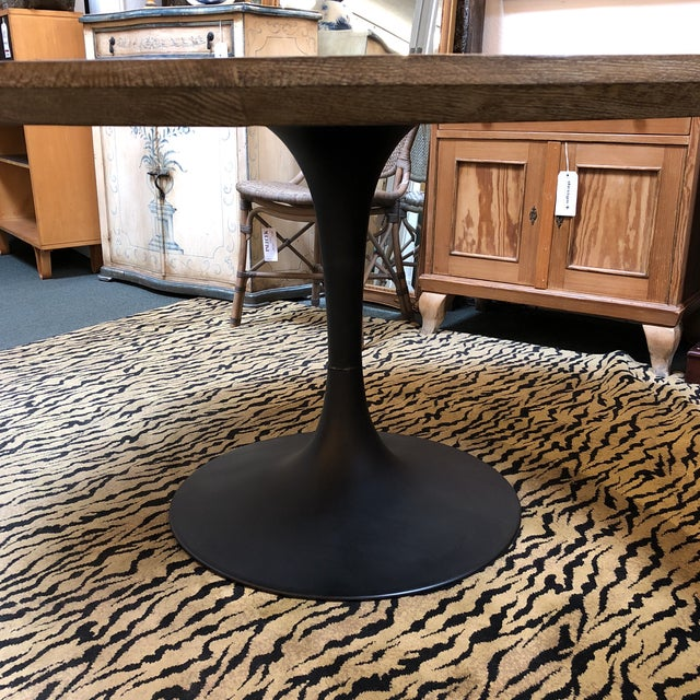 Metal Four Hands Powell Pedestal Dining Table For Sale - Image 7 of 12