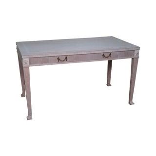 Custom White Wash Regency Style Writing Desk