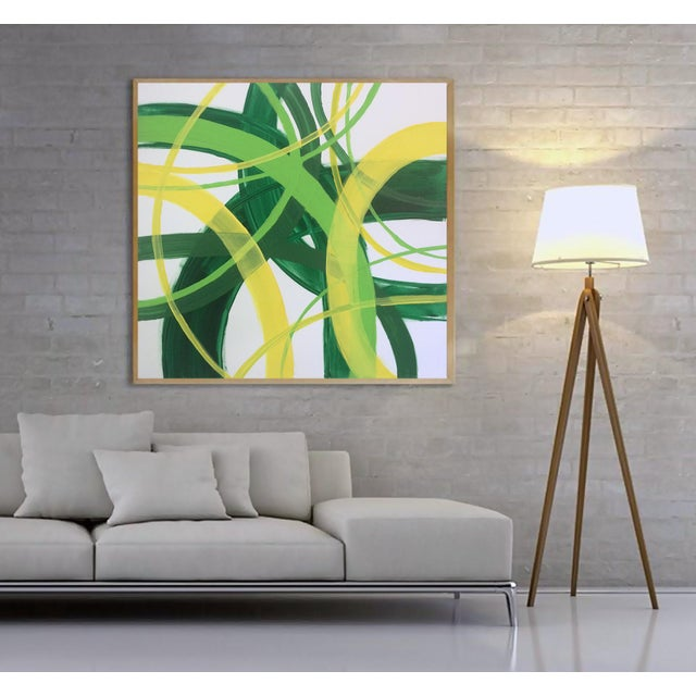 'Triplemint' Original Abstract Painting by Linnea Heide - Image 7 of 7