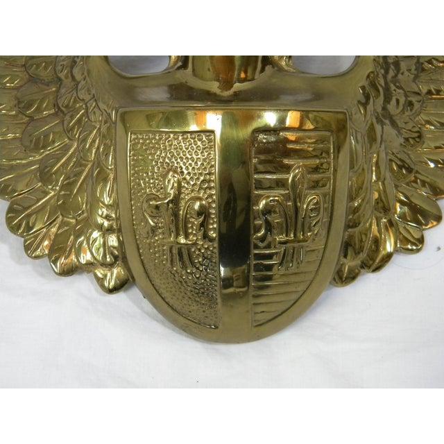 Baroque Solid Brass Angel Door Accent For Sale - Image 3 of 6