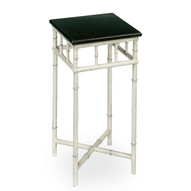 2010s Sarreid LTD Metal & Marble Side Table For Sale - Image 5 of 6