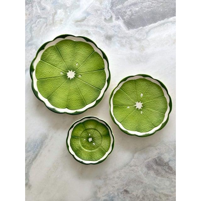 Ceramic Mid 20th Century Lenwile Ardalt Artware Lime Citrus Dessert Plates - Set of 4 For Sale - Image 7 of 7