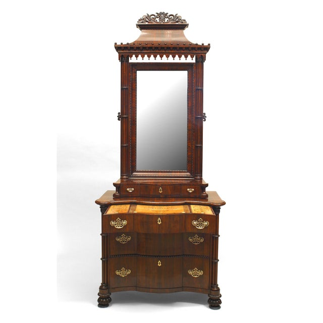 Mid 19th Century English Regency Style Gothic Design Chest of Drawers For Sale - Image 5 of 13