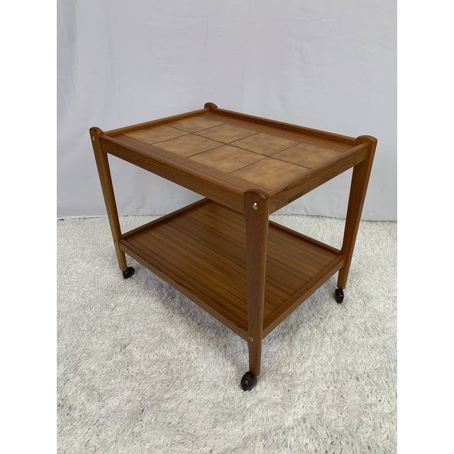 Brown Danish Modern Teak Serving Cart by Brdr Furbo For Sale - Image 8 of 13