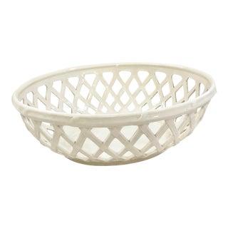 English Creamware Decorative Bowl For Sale
