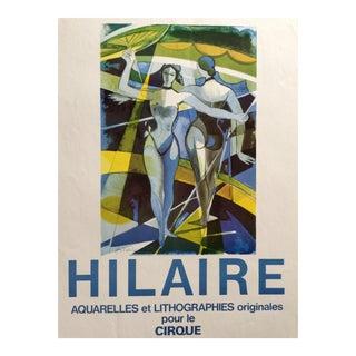 1960s Vintage Hilaire Circus Exhibition Poster