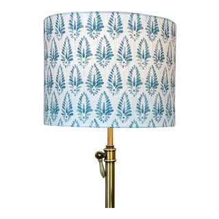 Blue Patterned Lamp Shade For Sale