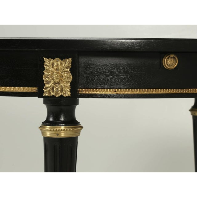 French Louis XVI Style Ebonized Mahogany Dining Table For Sale - Image 4 of 8