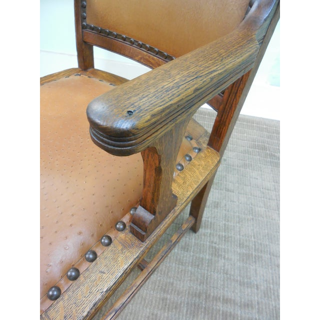 Antique Victorian Oak Dining Chairs - Set of 4 - Image 10 of 10