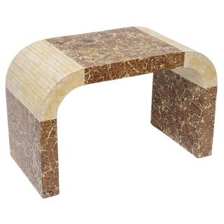 Coconut Shell & Bone Waterfall Stool For Sale