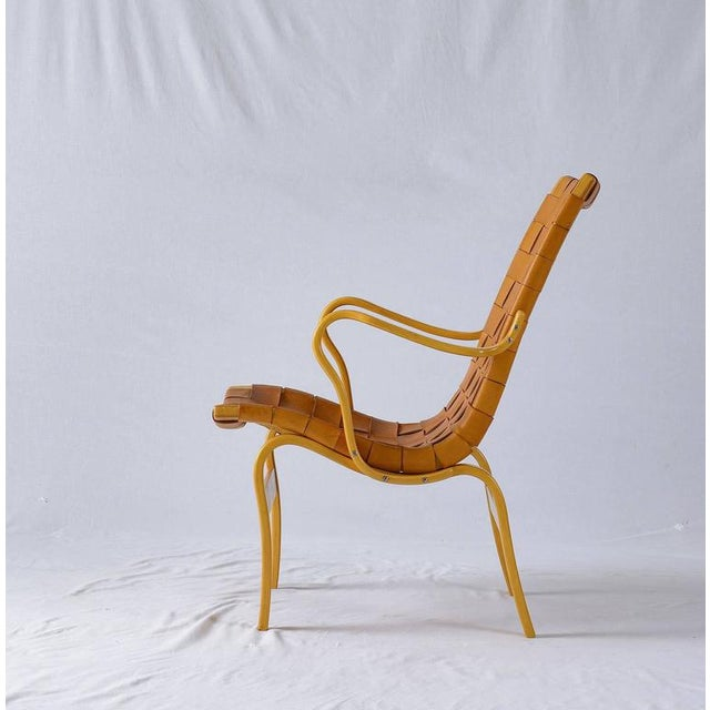 "Bruno Mathsson Leather ""EVA"" Lounge Chair - Image 7 of 10"
