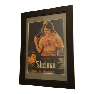 Vintage Mid-Century Bollywood Movie Poster For Sale