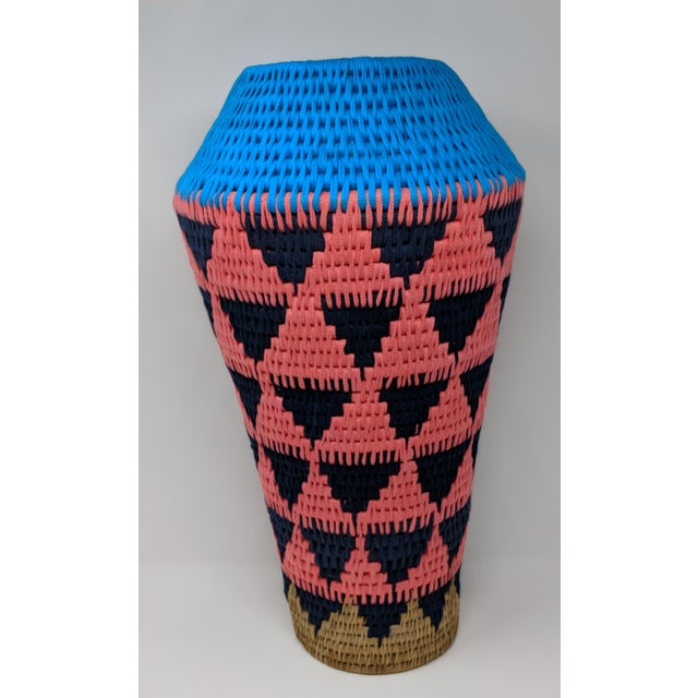 African Woven Vase - Made in Swaziland For Sale - Image 4 of 13