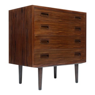 Danish Modern Rosewood Small Chest, Sideboard,