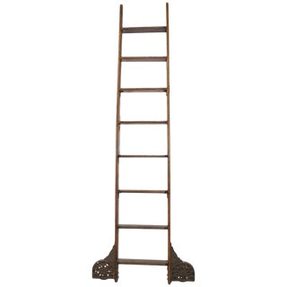 Antique Coburn Trolley Track Mfg Co Library Ladder For Sale
