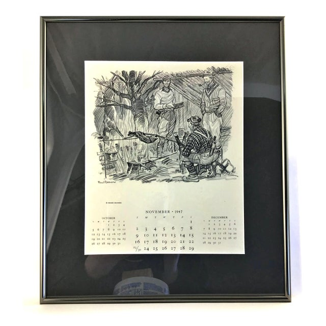 1947 Paul Desmond Brown for Brooks Brothers Calendar Print For Sale - Image 9 of 9