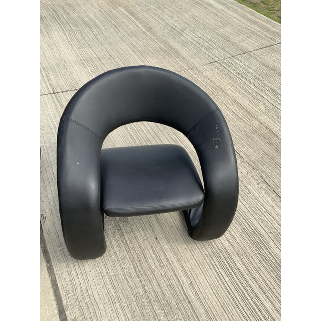 1990s Vintage Sculptural Sinuous Cantilever Chairs - A Pair For Sale - Image 9 of 10