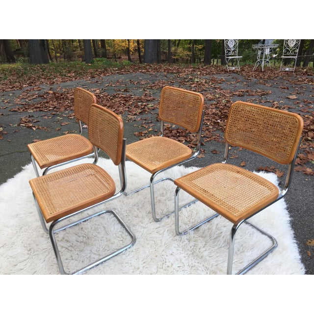 Marcel Breuer-Style Cane Chairs - Set of 4 - Image 6 of 6