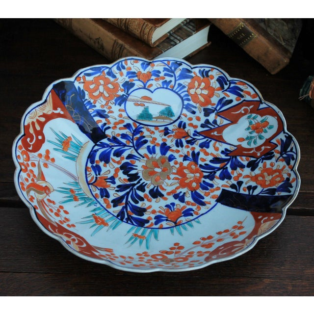 Antique 19th Century Imari Bowl Serving Dish Plate Charger Japan For Sale - Image 9 of 12