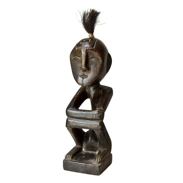 African Hand Carved Wood Man Figure - Image 1 of 6