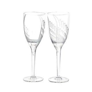 Lalique Paris Angel Champagne Flutes - A Pair